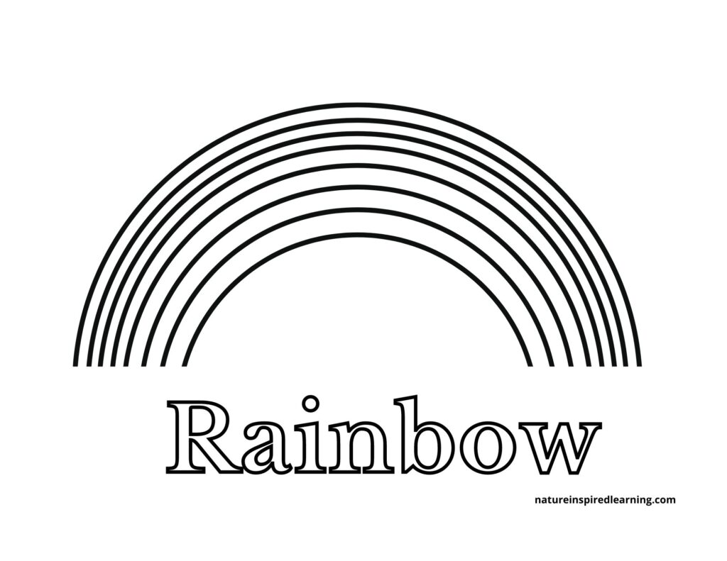7 Layer Rainbow with Text Printable