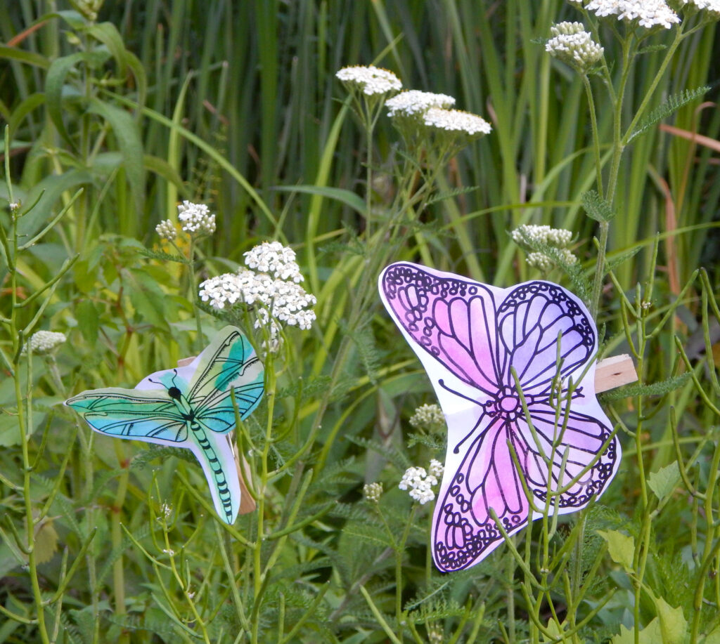 easy insect crafts outside