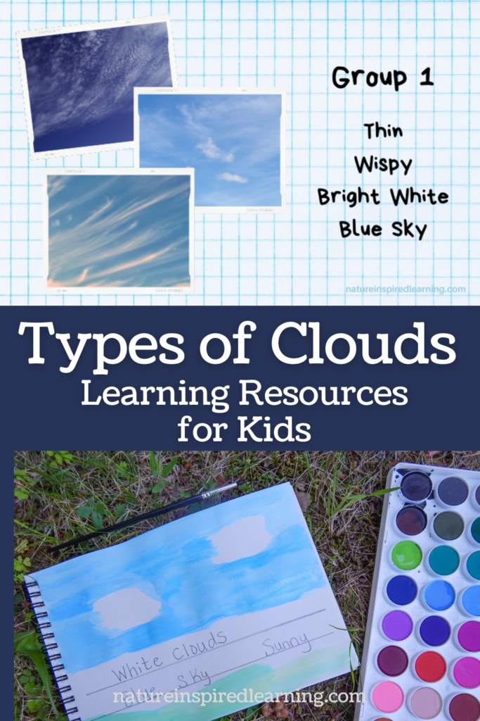 types of clouds pin with activity photographs