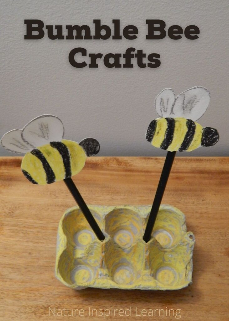honeycomb bee craft egg cartoon pencil holder with text bumble bee crafts